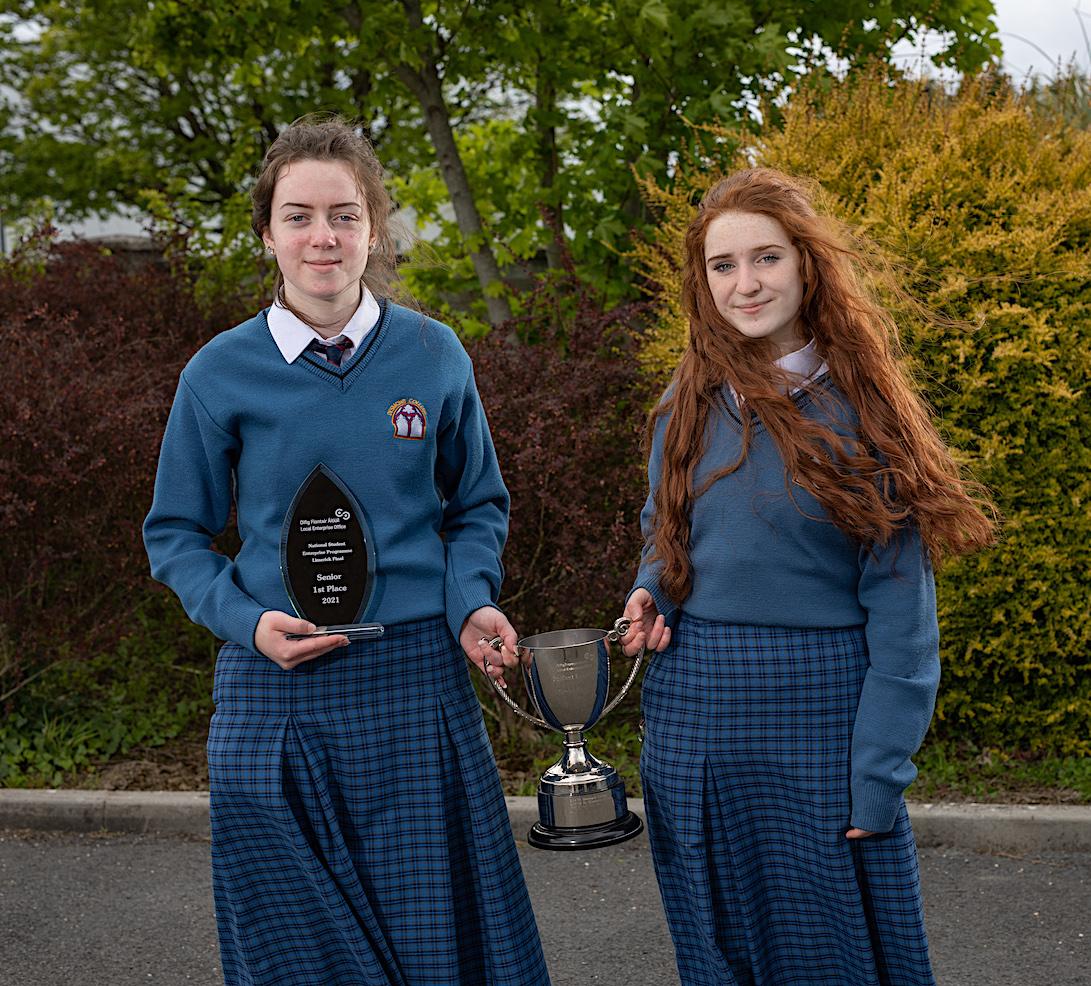 Award winners Emma O'Shea and Rebecca Enright.