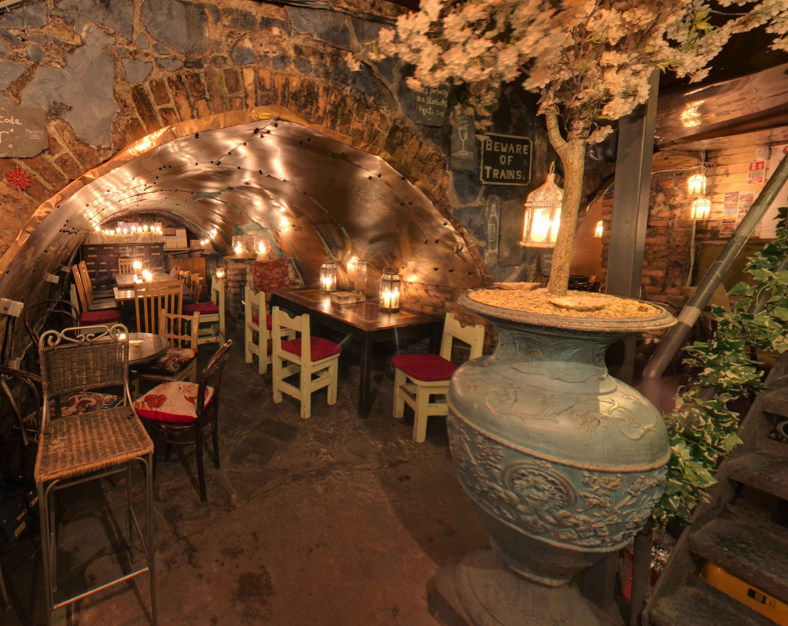 The Copper Room is a creative example of what can be done with the underground Georgian cellars