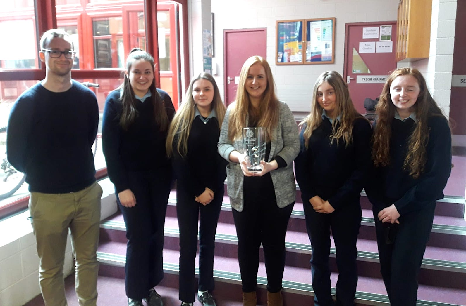 TY Students from Scoil Pol (pictured above) with the help of local businesses and money they collected through donations, prepared care packages which they donated to Novas, a homeless organisation.