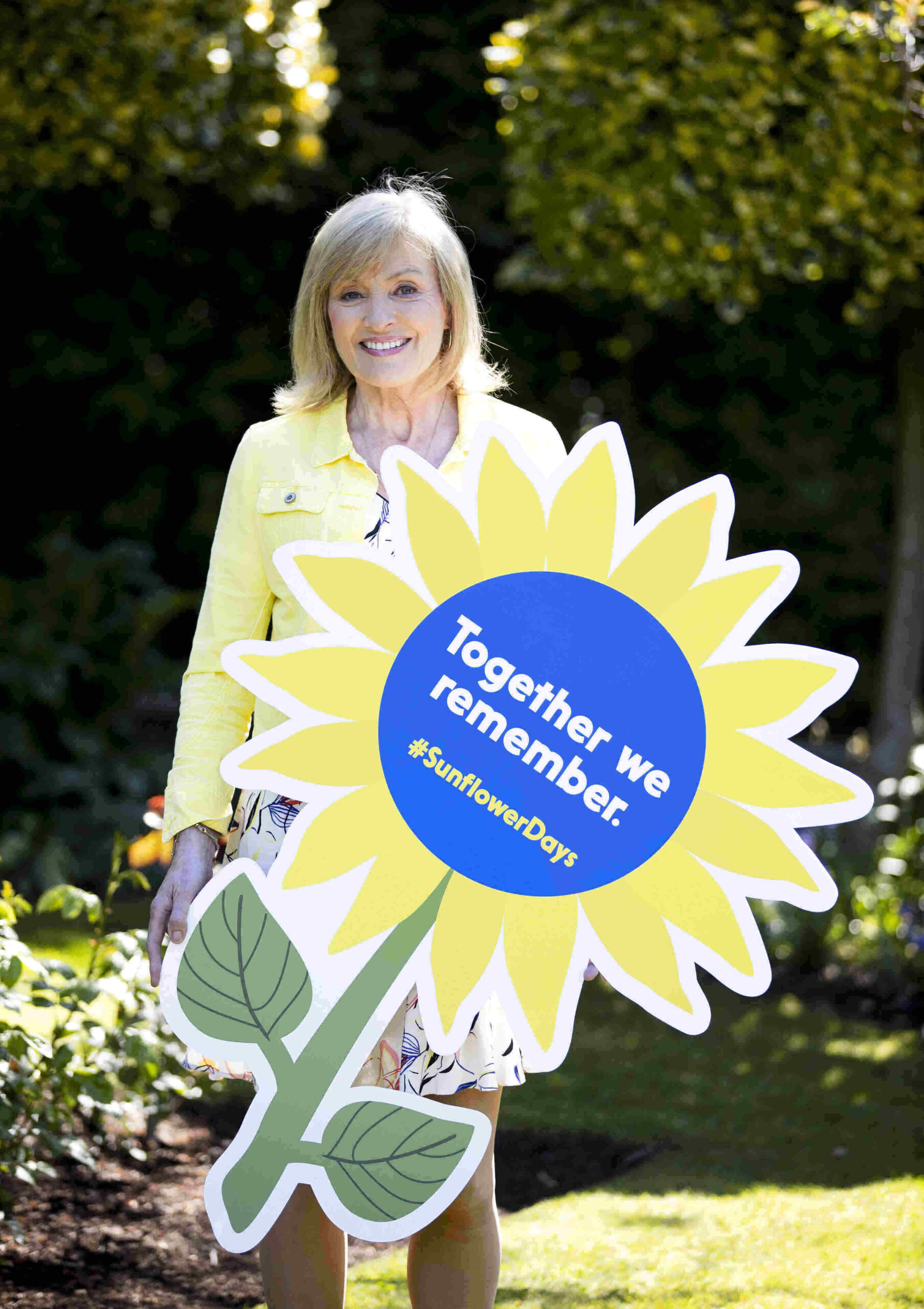 Broadcaster and Sunflower Days Ambassador, Mary Kennedy, pictured above.
