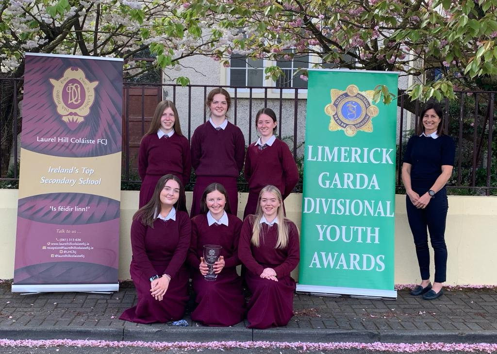 Six students from Laurel Hill Colaiste (pictured above) meet every Tuesday afternoon to support 6 children remotely from our Lady of Lourdes National School with their reading.