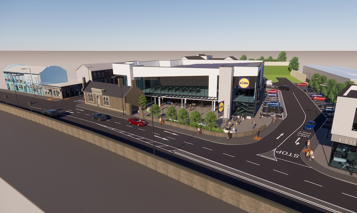 Lidl Dock Road Store - The proposed store pictured above.