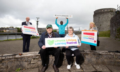 Lifelong Learning Festival 2021 - Pictured launching this year's festival were, Mayor of Limerick City and County, Cllr. Michael Collins with learning Ambassadors, Tom Kearns, Chinazo Nnaya, Breda Butterfield and Patricia Sheehan. Picture: Alan Place.