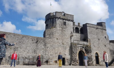 Limerick Sings 2021 - Members of Voices of Limerick Choir pictured above rehearsing at King Johns Castle.