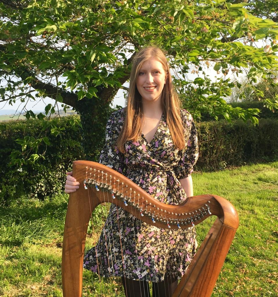 Talented Gráinne Fitzgibbon will playing the harp