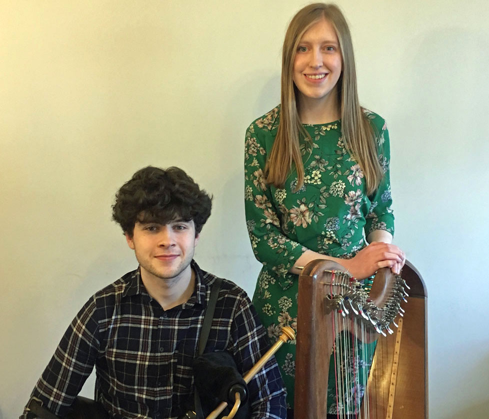 Sean O Riada Gold Medal - Siblings Michaél and Gráinne Fitzgibbon (pictured above) are competing in both categories of Harps and Pipes