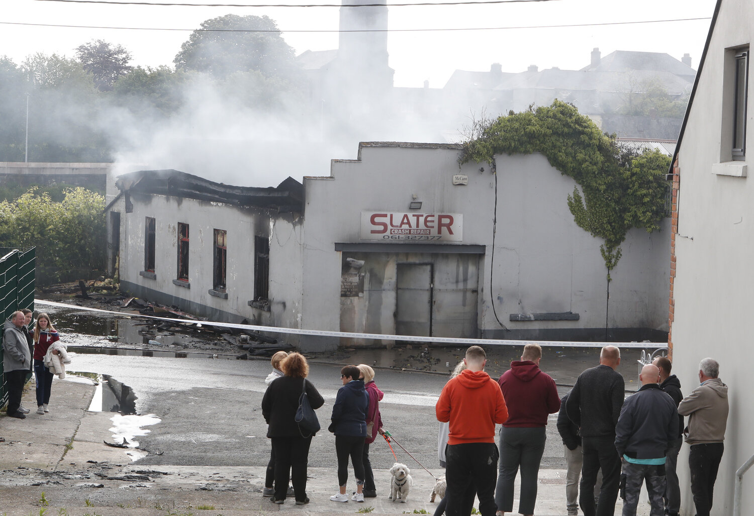 Slater Crash Repairs - Over €14,000 has been raised in funds for popular Limerick business Slater Crash Repairs which was tragically destroyed in a suspected arson attack. Picture: Liam Burke/Press 22