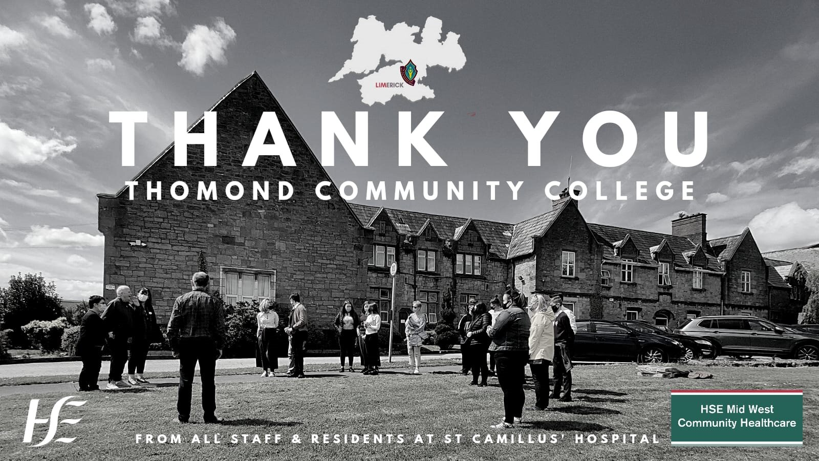 St Camillus Community Hospital thank Thomond Community College for their generosity and innovation.