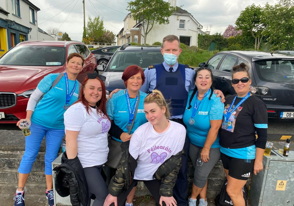 Brooklyn Colbert - family and friends took part in the Great Limerick Virtual Run on Saturday in loving memory of Brooklyn. Picture: Richard Lynch/ilovelimerick