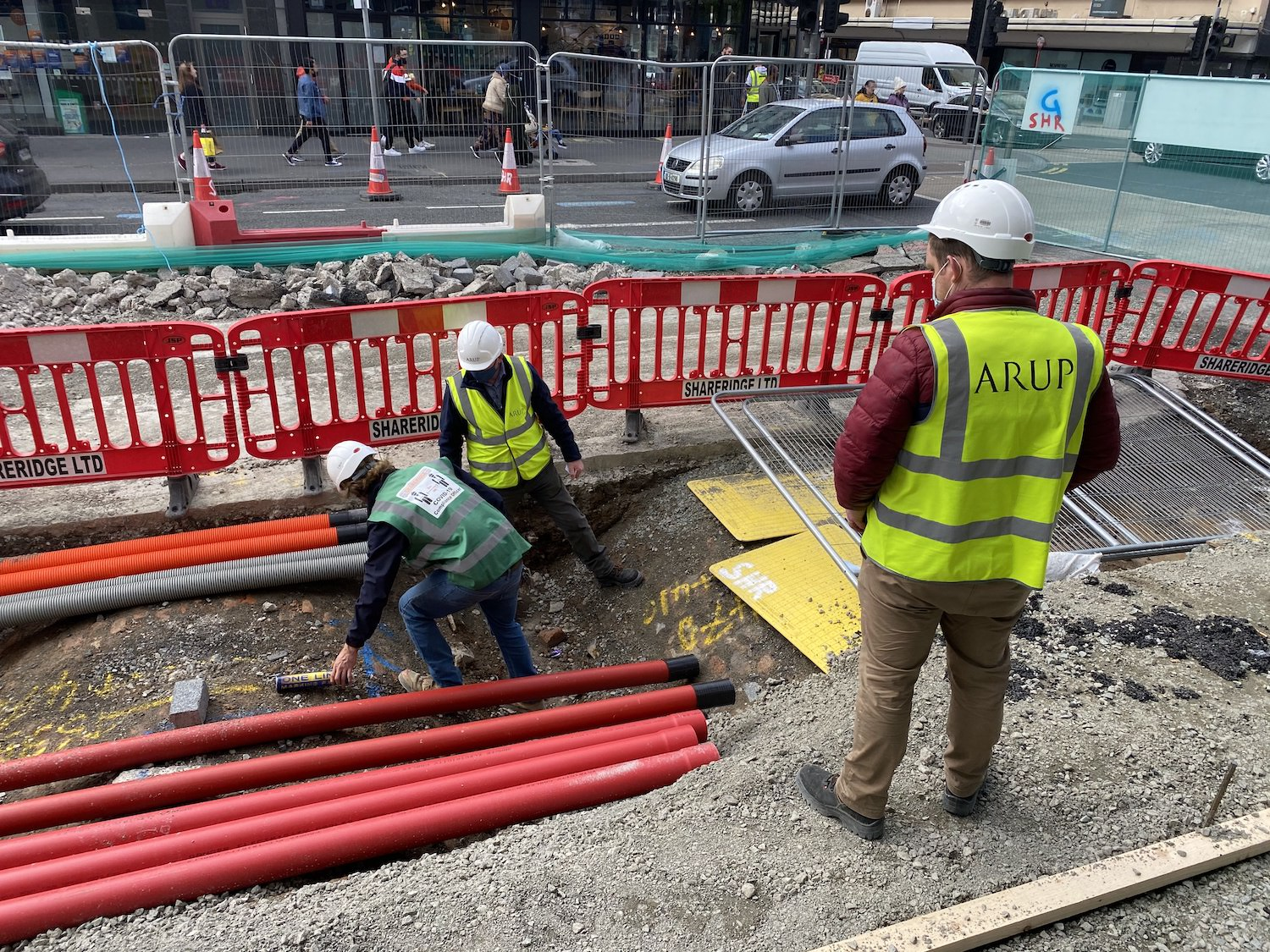 The works currently being carried out on O'Connell Street