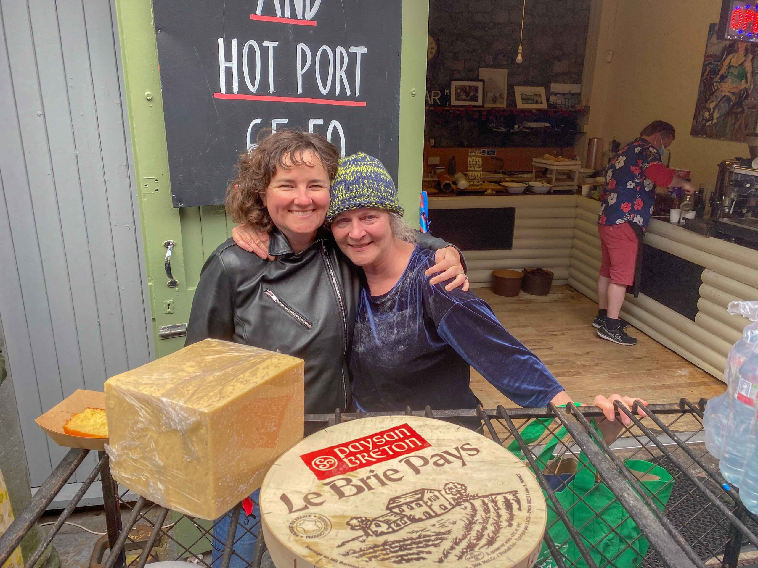Maris Cheese Shop - Mari Hussey Murphy opened her shop nearly thirty years ago and has played a part in the rich history of the Milk Market. pictured above with musician and theatre practitioner Ann Blake. Picture: Richard Lynch/ilovelimerick
