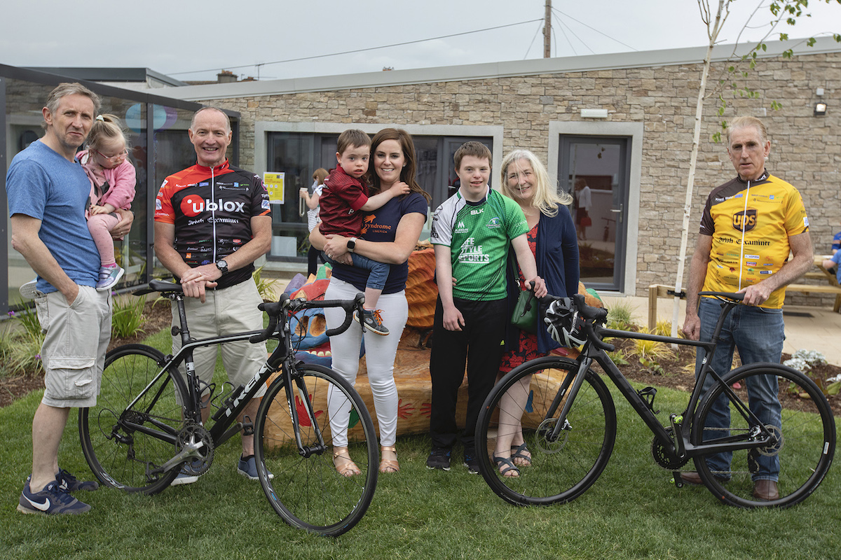 21st Annual Tour de Munster launch - Pictured are Barry and Fia Rogers, Paul Sheridan Tour de Munster Founder, Charlie Tuffy, Ellen Tuffy Chairperson DSI Limerick, Rory Winship, Therese Winship and Cycling legend Sean Kelly.