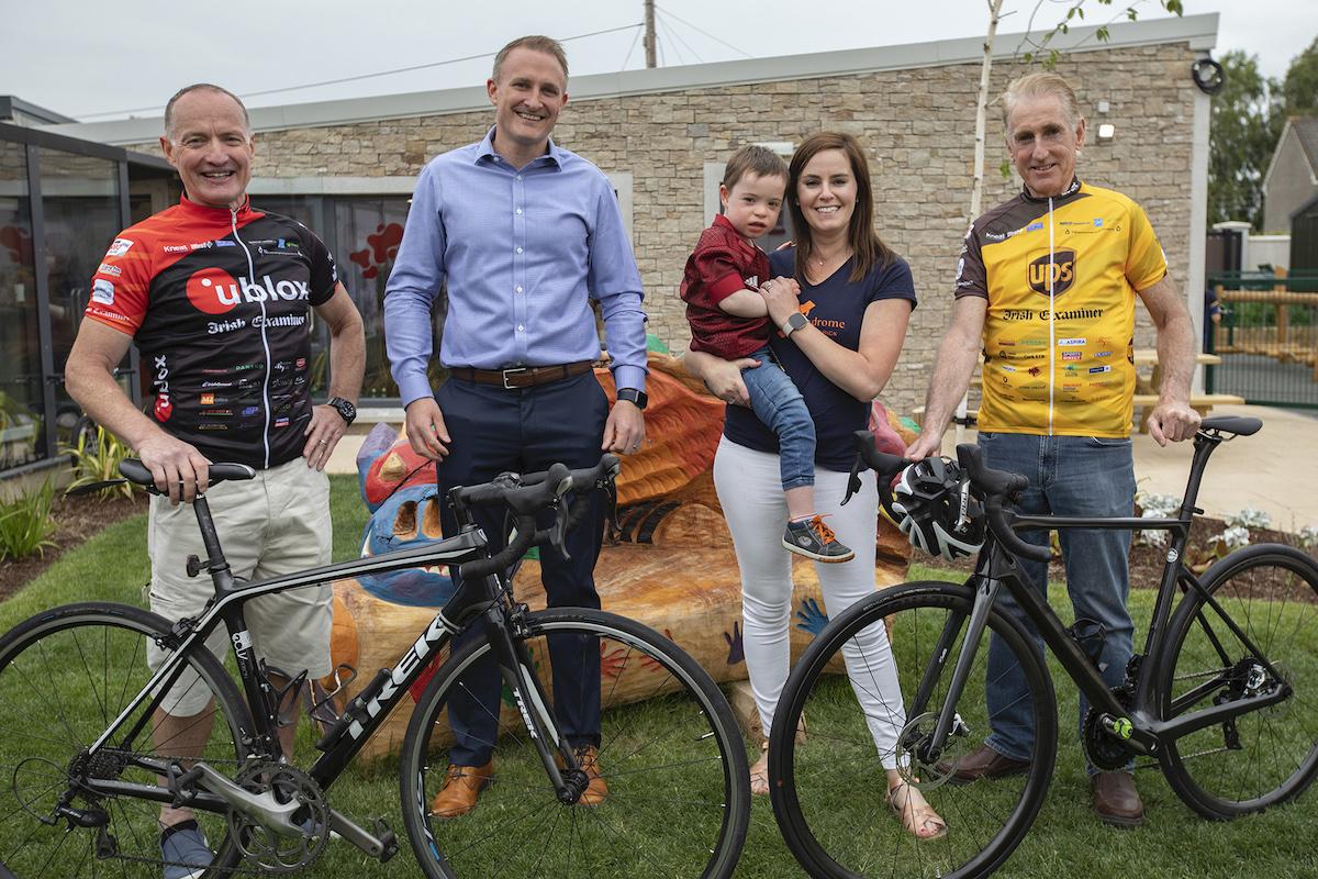 Paul Sheridan, Tour de Munster Founder, Barry John Keating, sponsor Kneat Limerick, Charlie Tuffy, Ellen Tuffy Chairperson DSI Limerick and Cycling legend Sean Kelly.