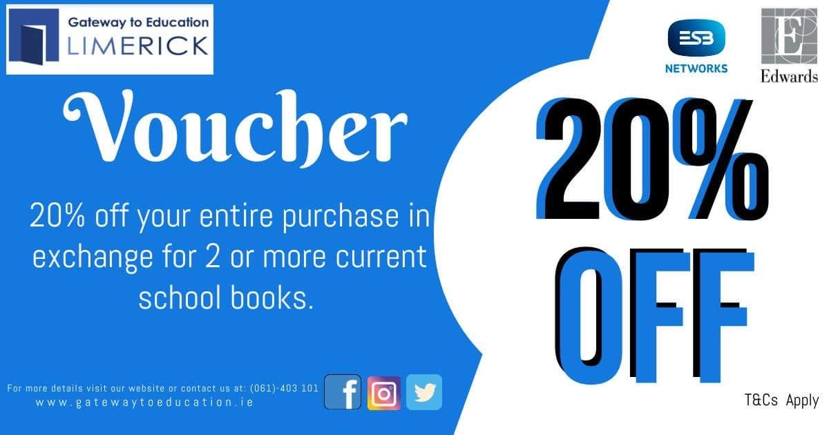 20% discount applies to a range of items in the store