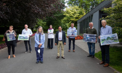 Home on the Farm exhibition - Pictured are June Danagher, David Ryan, Artist Mary Burke, Una mcCarhty, Curator/Director, Limerick City Gallery of Art, Cllr. Abul Kalam Azad Talukder, Deputy Mayor of the City and County of Limerick, John MacNamara, Morgan Murphy and Dan Browne. Picture: Alan Place
