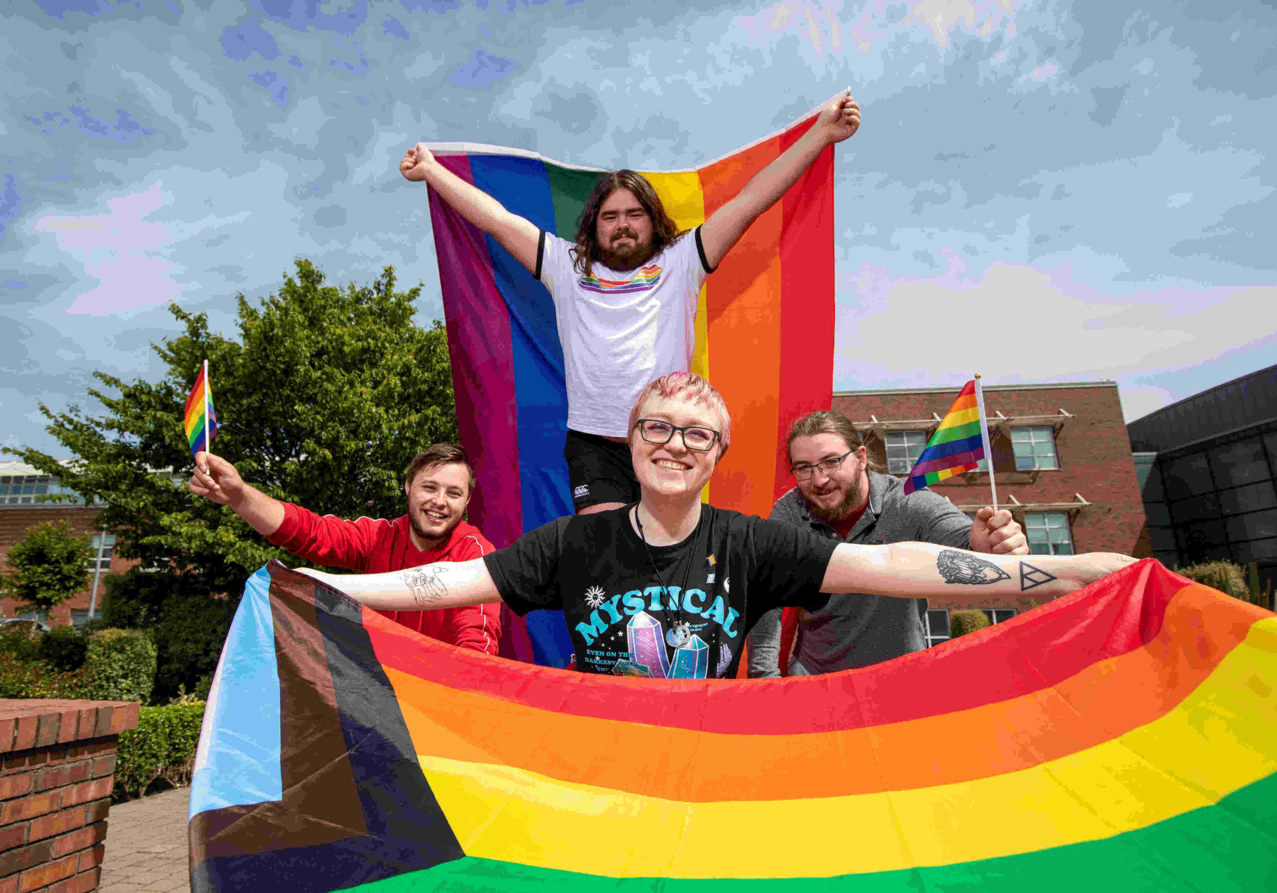Pictured above are LGBT+ LIT Students celebrating Pride Month!