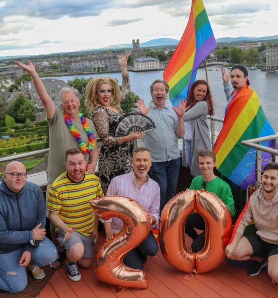 Limerick Pride Festival 2021 - The theme for this year's pride is 'Different Families, Same Love'. Pictured above are the Limerick Pride Committee 2021 with Myles Breen (centre back row). Picture: Farhan Saeed/ilovelimerick