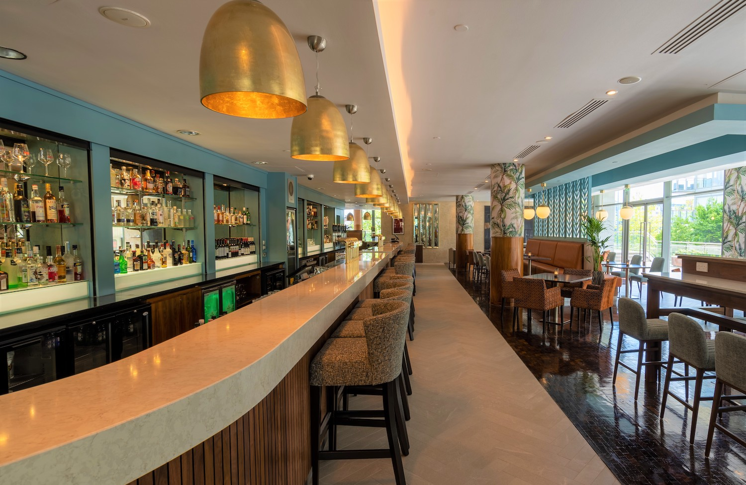 The interior of the new, beautifully designed Limerick Strand Bar and Restaurant.