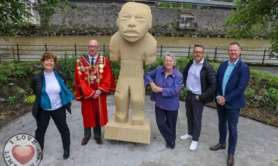 Museum in a Garden - Pictured at the launch are Jill Cousins, Director, The Hunt Museum, Mayor of Limerick, Cllr Michael Collins, Eanna Ní Lamhna, Biologist and Environmental Consultant, John Moran, Chair of the Museum, Keith Grenville, ARUP Engineers. Picture: Farhan Saeed/ilovelimerick