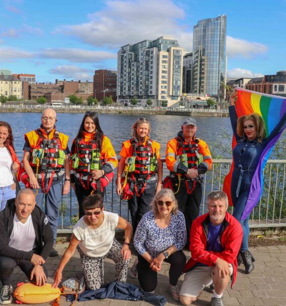 Rainbow River Swim Parade - Lisa Daly, Chairperson of Limerick Pride, Tom Sheehan, Maija Krasna, Linda Hickey and Ciaran Ryan of Limerick Suicide Watch and Carrie Deway (back) with Alan Gleeson, Brenda Cosgrove, Deirdre Cross and Mark Kinsella of Limerick Narwhals (front) pictured at the launch of Limerick Pride Festival 2021. Picture: Farhan Saeed/ilovelimerick