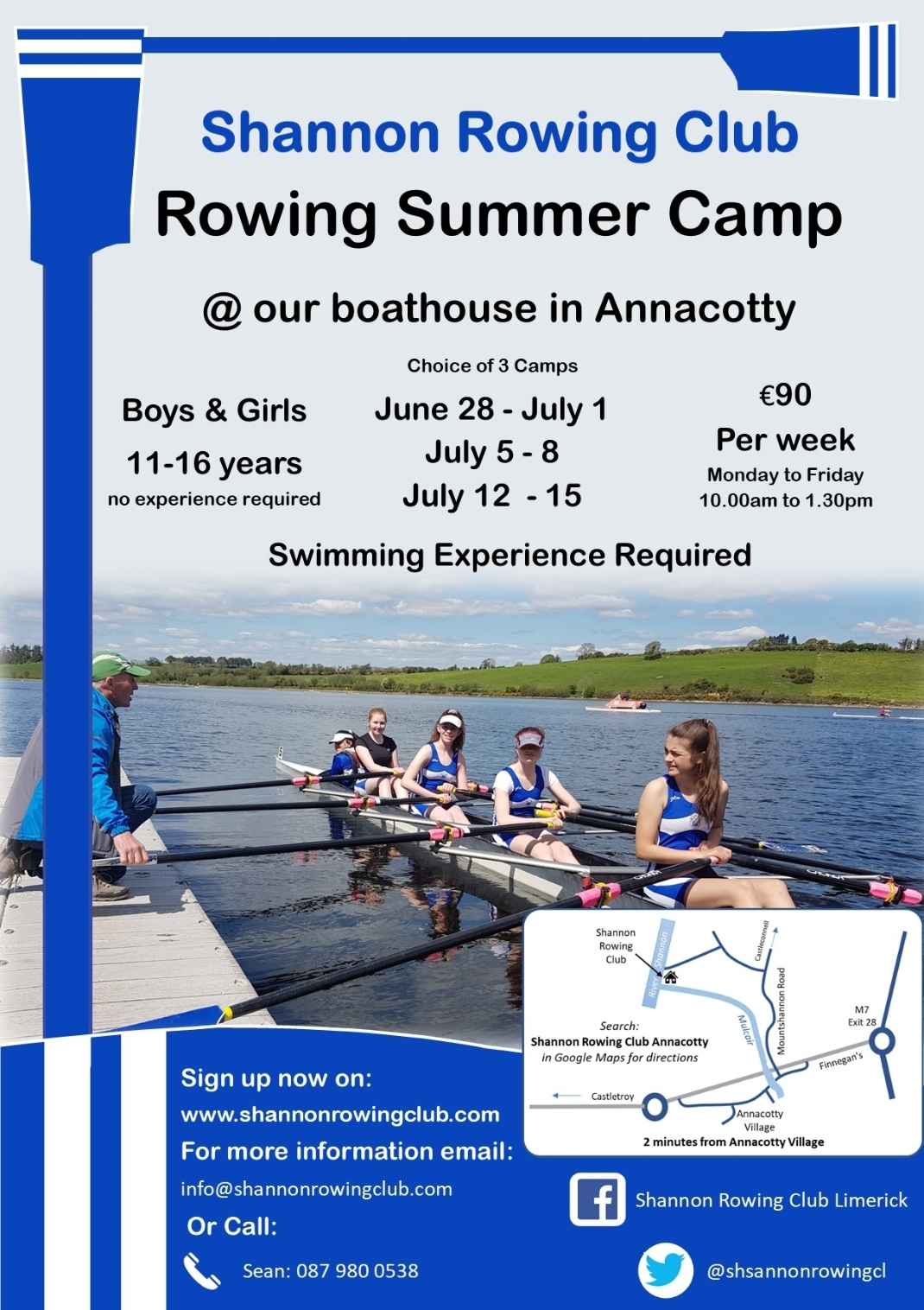 Flyer for the upcoming camps!