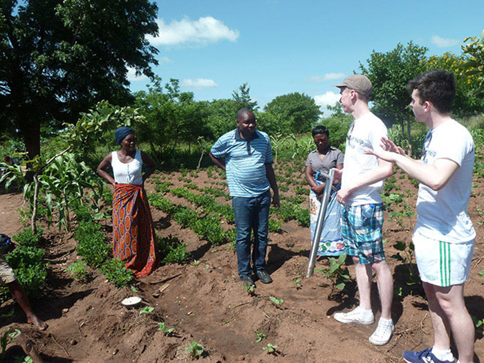 Jack pictured working in Malawi