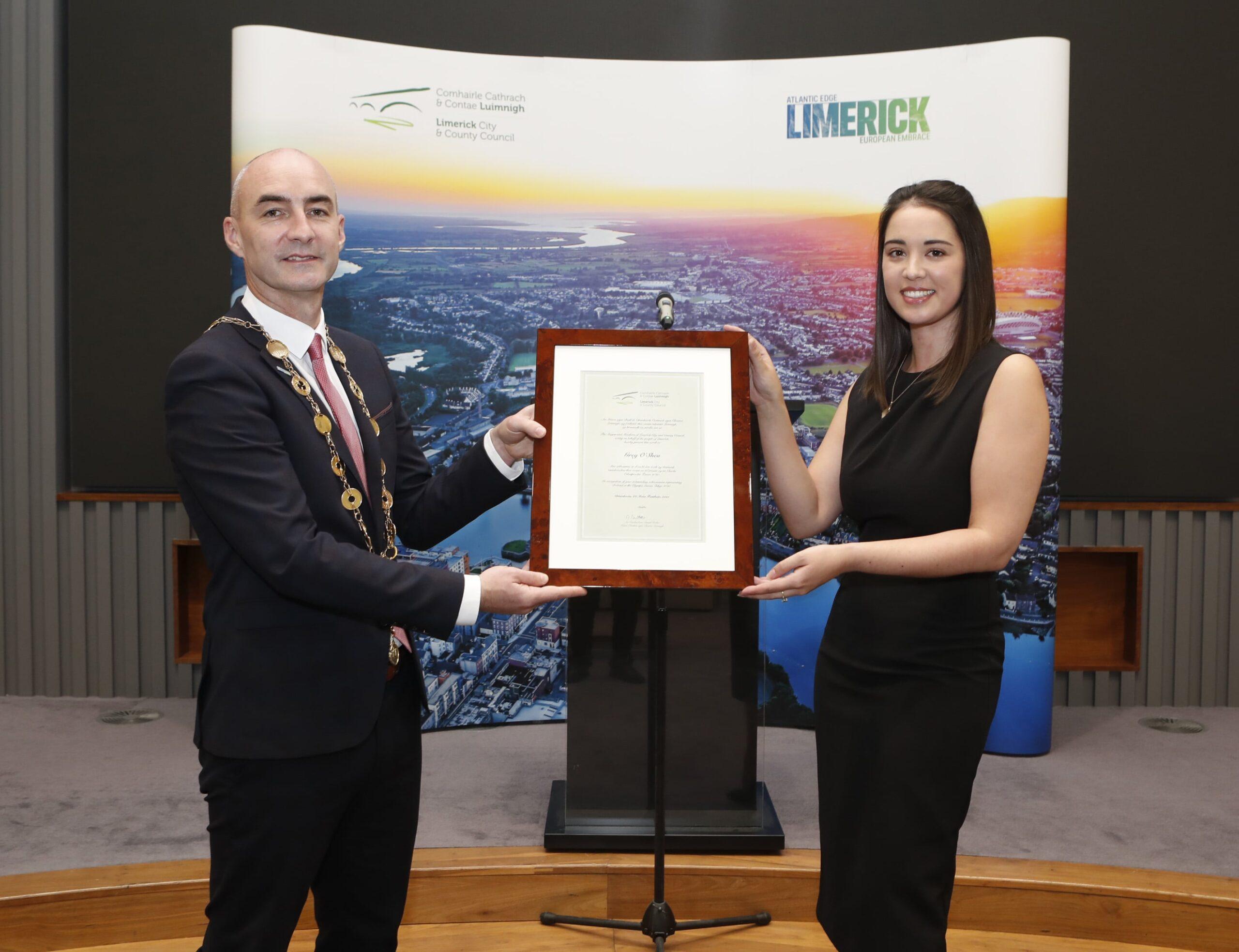 Mayor Honours Limerick Olympians