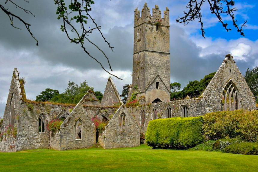 Adare Heritage Trail features the Franciscan Abbey pictured above.