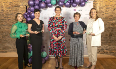 Businesswoman of the Year 2021 Businesswoman of the Year 2021 - Pictured at Network Ireland's Annual Conference and Businesswoman of the Year Awards at Waterford's Theatre Royal are (l-r) winner of the Enterprise Ireland Emerging New Business Category Erica Hargaden, winner of the Local Enterprise Office Waterford Creative Professional Category Emma-Jane Leeson, National President of Network Ireland Aisling O'Neill, winner of the AIB Established Business category Ber Collins and winner of the Cantec Group Employee Rising Star category Aisling Finn. Picture: Patrick Browne