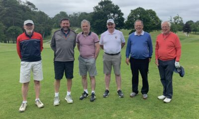 Cormac Mehigan (4th from right) with Team Ireland Parkinson's team members Padraig Barry, Adrian Grey, Kevin Fitzsimons, Gerard Loughnane, Billy Davis, Gerard O'Connor and James Quinlan Cormac Mehigan