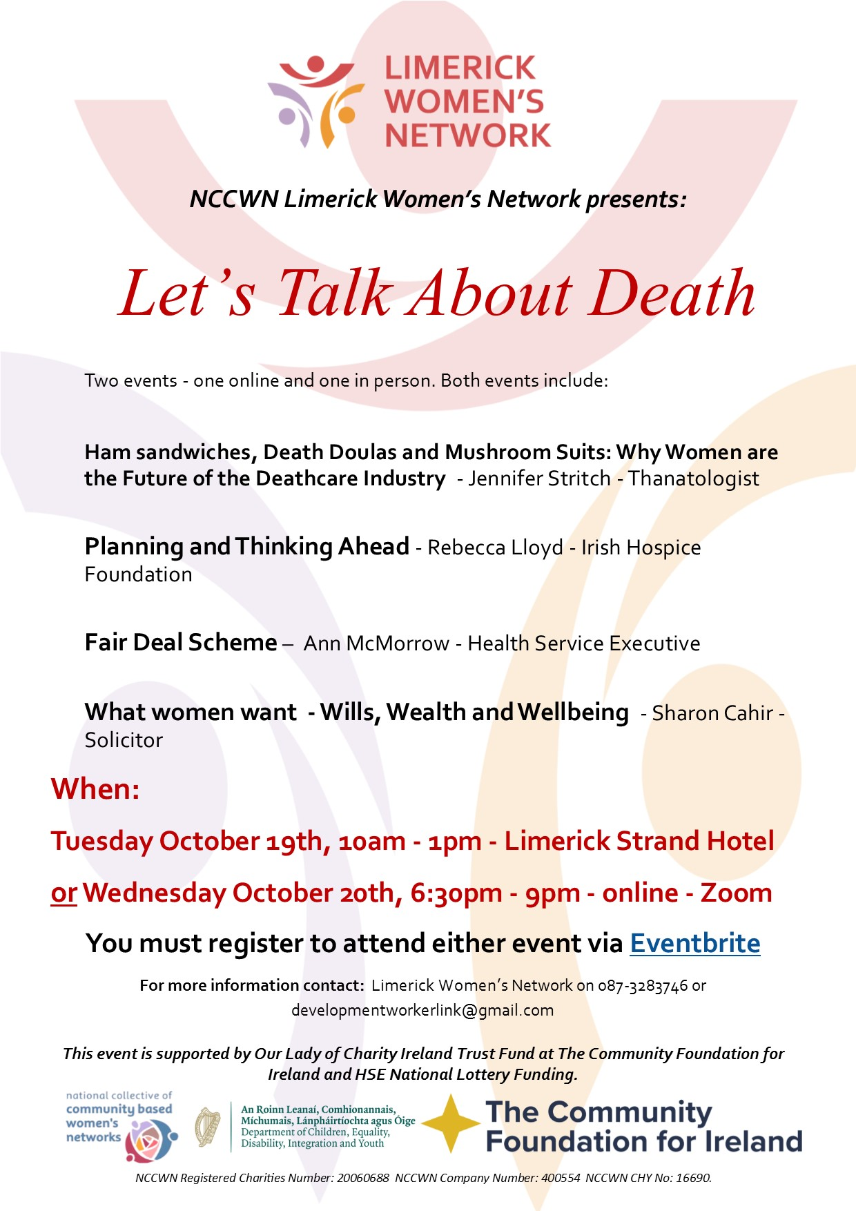 Lets Talk About Death Lets Talk About Death aims to demystify and normalise conversations about death and dying.
