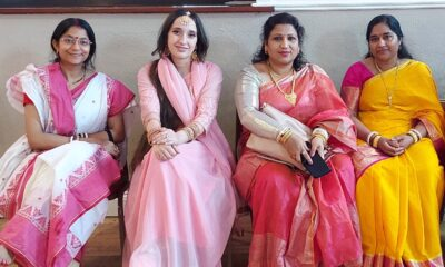 Limerick Durga Puja event - pictured are Ladies in traditional outfits enjoying the celebrations. Picture: Vinita Malu