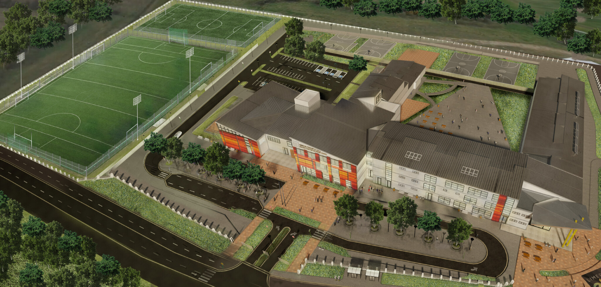Limerick School Funding Limerick School Funding - a large number of Limerick schools will benefit from National Development Plan funding, including Limerick Educate Together Secondary School, whose new Castletroy campus is pictured above.