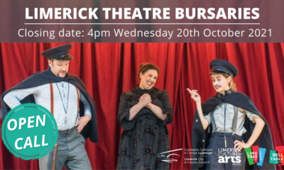 Limerick Theatre Bursaries Autumn 2021 Limerick Theatre Bursaries Autumn 2021 - An open call for the Limerick Theatre Bursaries Awards Scheme, in partnership with the Lime Tree Theatre, has been announced.