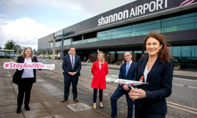 Shannon Airport chamber campaign Shannon Airport chamber campaign - Pictured at Shannon Airport are Margaret O'Brien, CEO Ennis Chamber, Kenny Deery, CEO Galway Chamber, Dee Ryan, CEO Limerick Chamber, Stephen Keogh, President Shannon Chamber and Mary Considine, CEO Shannon Group. Picture: Arthur Ellis.