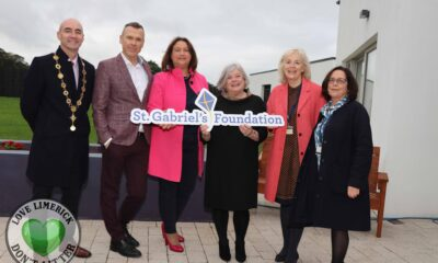 St Gabriels Childrens Respite House - Pictured at the launch are Cllr Daniel Butler, Mayor of Limerick City & County, Richard Lynch, I Love Limerick, Minister Anne Rabbitte TD, Máire O'Leary, CEO, St Gabriels, Kate Sheahan, Fundraising & Development Manager and Susan Walsh, PA to Máire O'Leary, CEO. Picture: Rachel Petticrew/ilovelimerick