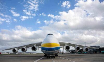 Worlds largest aircraft Antonov 225 at Shannon Airport. Picture: Arthur Ellis