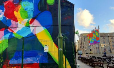 Signals from the River can be viewed on Nicholas St in Limerick City. Picture: Nigel Dugdale