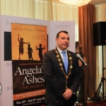 Pictured at the Savoy hotel for the launch party of the smash-hit musical Angela's Ashes is Cllr James Collins, Mayor of Limerick City and Council. Picture: Conor Owens/ilovelimerick.