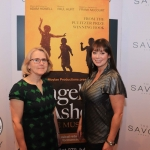 Pictured at the Savoy hotel for the launch party of the smash-hit musical Angela's Ashes are Louise Donlon and  Jacinta Whyte from the Lime Tree Theatre. Picture: Conor Owens/ilovelimerick.