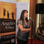Pictured at the Savoy hotel for the launch of the smash-hit musical Angela's Ashes is actor Jacinta Whyte singing a song from the musical. Picture: Conor Owens/ilovelimerick.