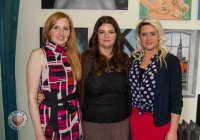 Jovita Zolina, art student, Jayne Foley, Course Director, Lynda Ryan, art student.