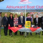 Pictured at the Athlunkard boat club for the presentation of the new donated defibrulator from South Limerick City Residents Association are Tom Handly, Order of Malta, Senator Maria Byrne, Limerick City and County Council, Cllr Ellora Hogan, Cllr Daniel Butler, Municipal Mayor of Limerick City and Council, Ewan Gallaher, captain, Dom Kiely, Trustee and Mike Kiely, Secretary. Picture: Conor Owens/ilovelimerick.