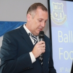 Ger Doherty, Chairman of Ballynanty Rovers AFC giving a speech at the Ballynanty Rovers AFC Development Launch in Thomond Park August 8, 2018. Picture: Sophie Goodwin/ilovelimerick.