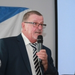 Ray O'Halloran, Vice Chairman of Ballynanty Rovers AFC giving a speech at the Ballynanty Rovers AFC Development Launch in Thomond Park August 8, 2018. Picture: Sophie Goodwin/ilovelimerick.