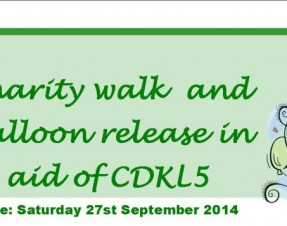 CDKL5 Charity Walk and Balloon Release