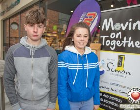 Ruairi McMahon sells wristbands in aid of the Mid West Simon Community