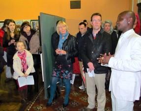 "Jean Ryan Hakizimana art exhibition Vivartis ""Colors of the Day"""