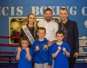 PHOTO & VIDEO – Andy Lee welcomes St Francis Boxing Club extension