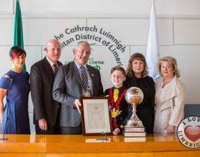 Fionn O Sullivan McCarthy receives Civic Reception